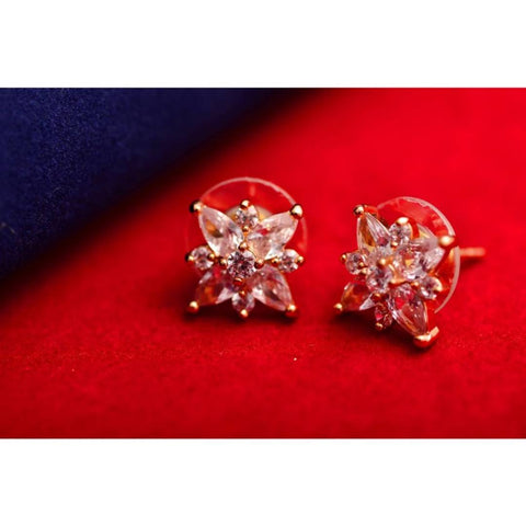 Women Rose gold Earrings