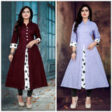 New Khadi Cotton Kurtis Combo Collection