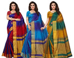 Combo Of 3 Multicoloured Saree