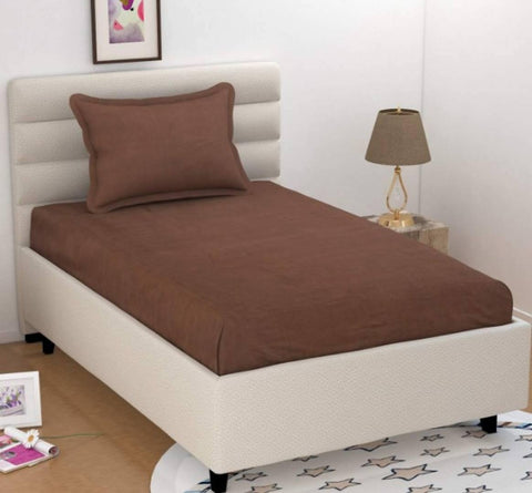 Super Soft Cotton 140 TC Single Bed Sheet With 1 Pillow Cover - Trend Eve