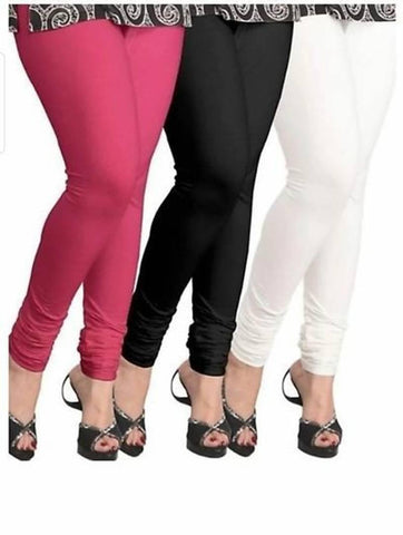 Maitri's  Cotton Stachable Solid Leggings ; Combo of 3