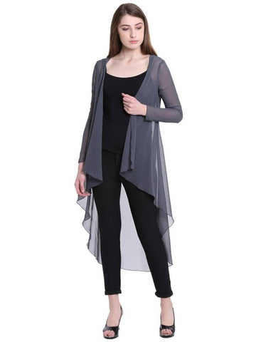 Grey Georgette  Shrug