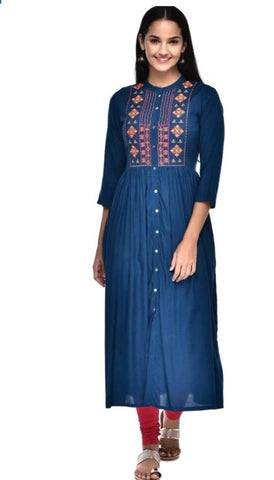 Beautiful Stylish Rayon Kurta for Women's