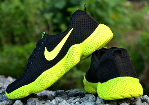 Men's Black Green Mesh Smart & Trendy Sports Shoes - Trend Eve