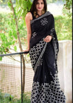 Traditional Jaipuri Cotton Mulmul Block Printed Saree