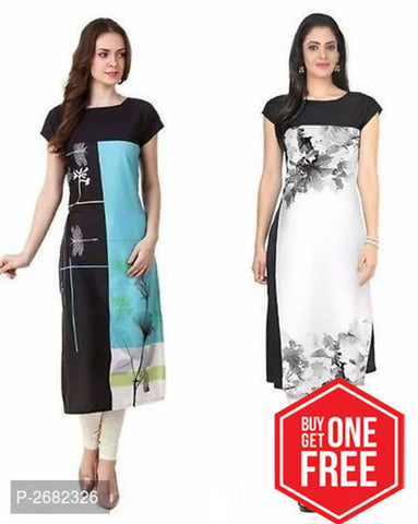 Digital Printed Crepe Kurtis Pack of 2