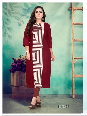 Stylish Cotton Printed Women's Kurtis