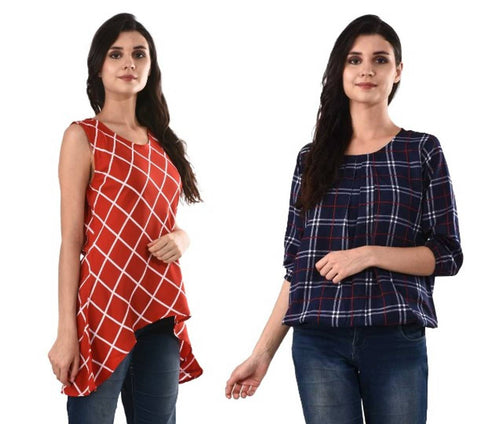 Crepe Combo Women's Tops
