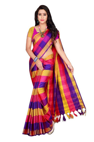 New Cotton Silk Saree with Blouse piece