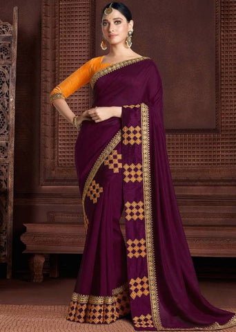 Designer Embroidered Rangoli Silk Saree