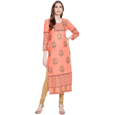 Women's Stylish Rayon Straight Kurta - Trend Eve