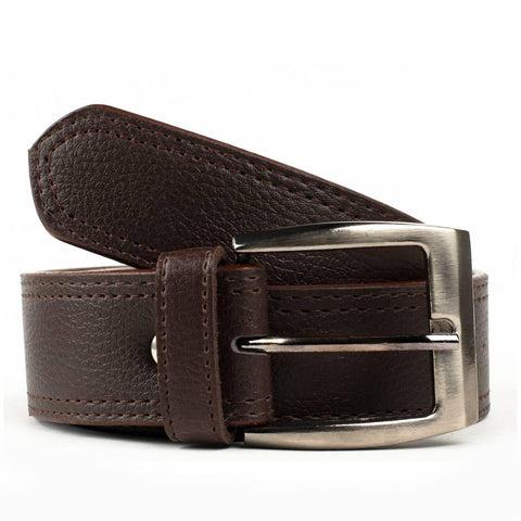 Brown Artificial Leather Formal Belts For Men's