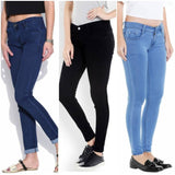 Women Multicolored Silky Denim Jeans Combo (Pack Of 3)