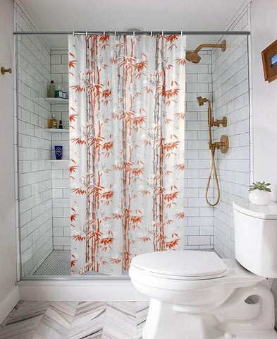 Waterproof Shower Curtain for Bathroom with 8 Hooks(Set Content : 1 Shower Curtain Set) - Trend Eve