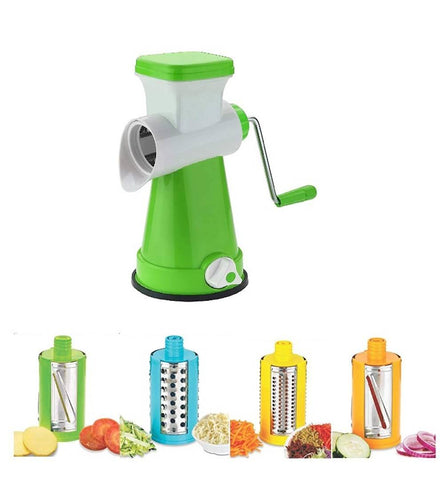 Analog Kitchenware 4 in 1 rotary vegetables and fruits grater and slicer green