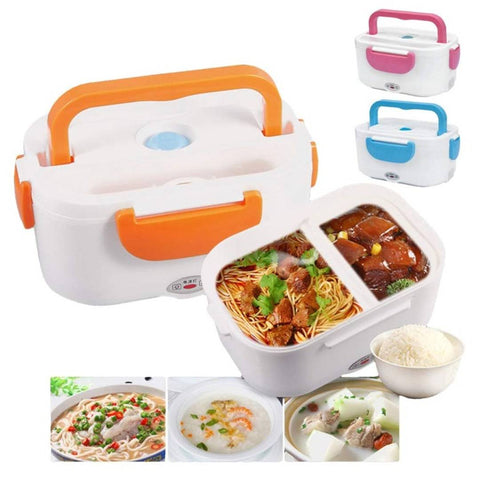 Shopper52 Portable Electric heatable Lunch Box Warmer Convenient for Office,School Etc use-Warm Food - LUNBXB