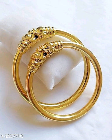 Trending And Beautiful Gold Plated Bangle Set