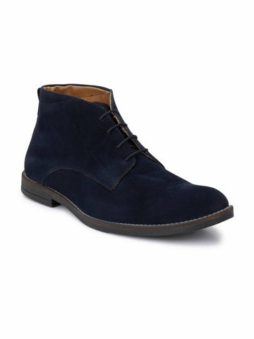 Men's Blue Suede Chukka Boots