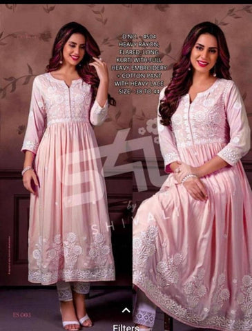 Women Full Embroidered Kurta with Bottom Wear