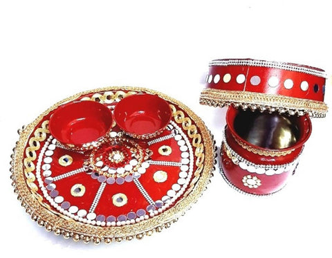Beautiful Krvachouth thali set - Trend Eve