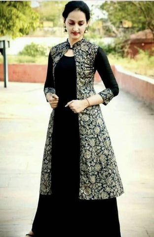 Beautiful  Printed Anarkali Kurta with Jacket