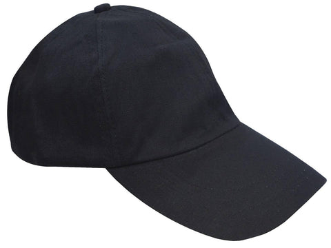 Trendy Cotton Blend Black Solid Cap For Men