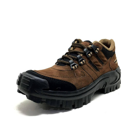 Elite Brown Synthetic Solid Trekking Shoes For Men - Trend Eve
