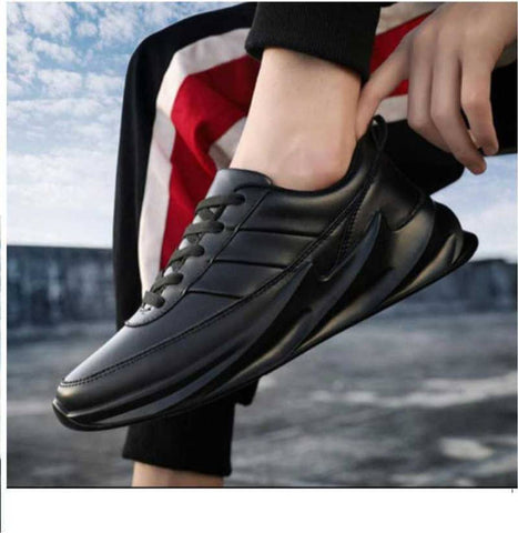 Men's Stylish and Trendy Black Solid Synthetic Casual Sports Shoes - Trend Eve