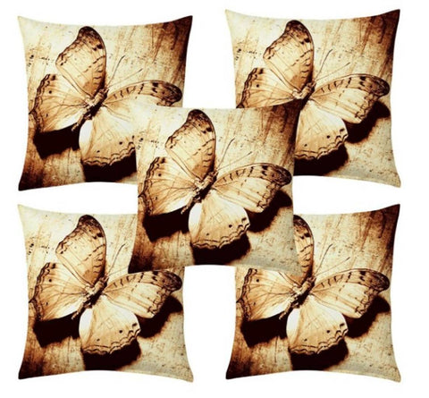 Attractive Polyester Printed Cushion Covers Pack of 5