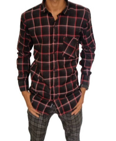 Stylish Cotton Checked Slim Fit Casual Shirts For Men