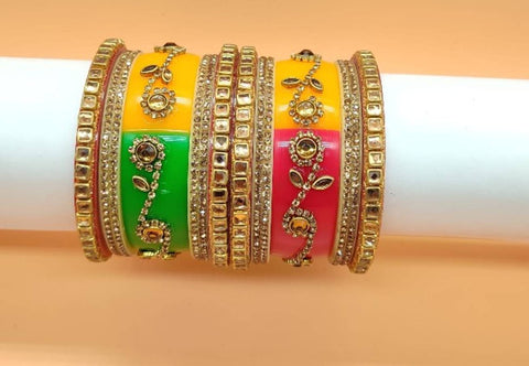 Trendy and Traditional Graceful Alloy Bangles Set