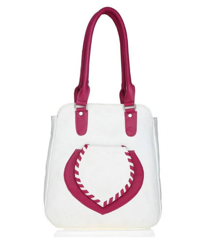 Premium Synthetic White Casual Handbag For Women