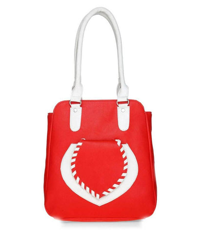 Premium Synthetic Red Casual Handbag For Women