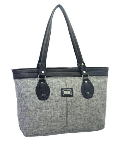 Premium Synthetic Grey Casual Handbag For Women