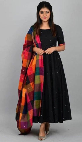 Latest Rayon Gown With Dupatta For Women
