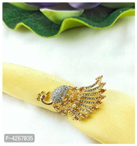 Trendy Brass American Diamond Ring For Women