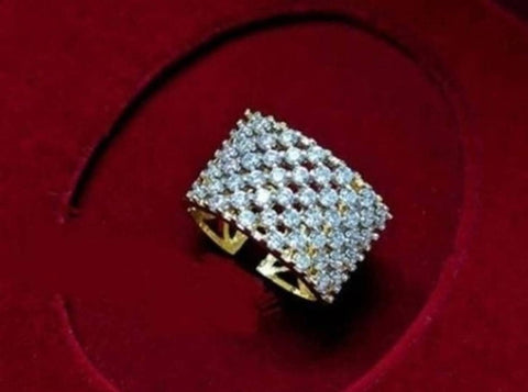 American Diamond Adjustable Ring For Women