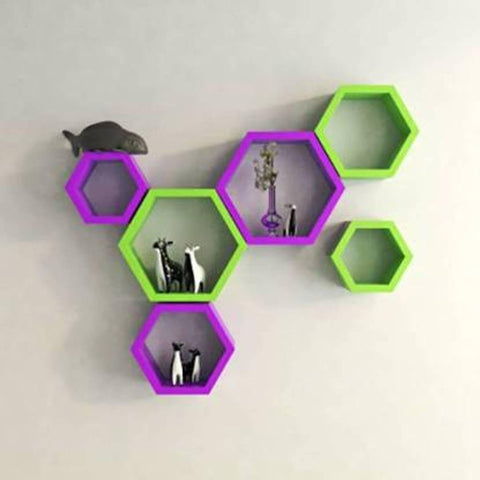 Wall Decorative Hexagonal Rack Shelf - Trend Eve