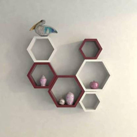 Wall Decorative Hexa Rack Shelf
