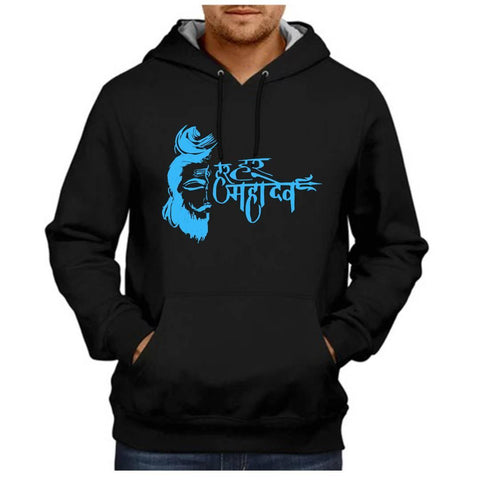 Stunning Black Cotton Printed Long Sleeves Hoodies For Men - Trend Eve