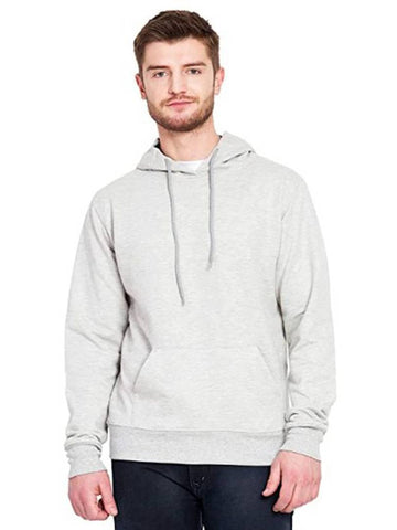 Stunning Grey Cotton Solid Long Sleeves Hoodies For Men - Trend Eve