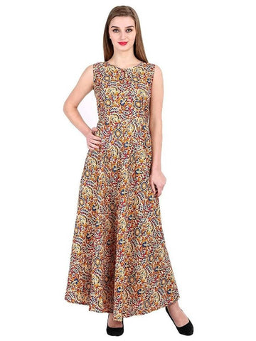 Beautiful Crepe Stitched Ethnic Gown for Girls and Women - Trend Eve