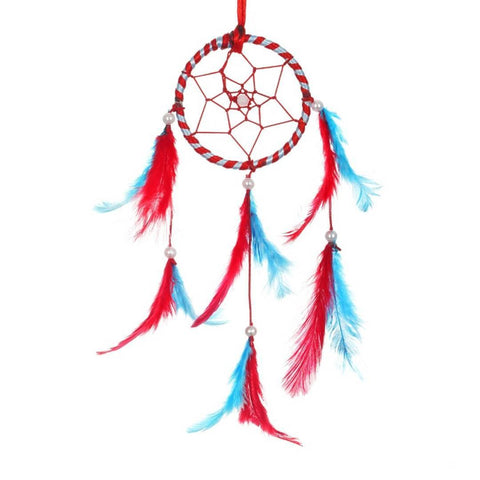 BS AMOR Sacred Hoops | Wall Hanging, Car Hanging | Home Decorative Showpiece Height 41CM, Pack of 1 (Red LightBlue)… - Trend Eve
