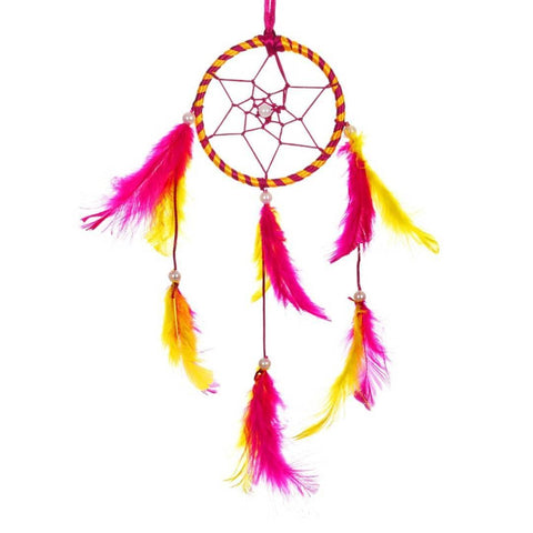 BS AMOR Sacred Hoops | Wall Hanging, Car Hanging | Home Decorative Showpiece Height 41CM, Pack of 1 (Pink Yellow)… - Trend Eve