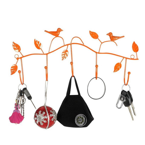 Metal Key Holder orange Color Key Holder for Wall Keychain Hanger- orange - Trend Eve