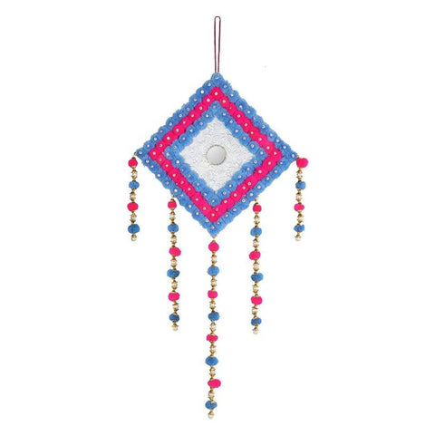 Wall Hanging Home décor Living Room Handmade Pompom Hanging Door Hanging (Pack of 1) - Trend Eve