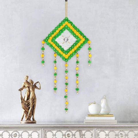 Wall Hanging Door Hanging Home Decor Handmade Wall Hanging Big Size |Bed Room |Living Room | Festive | Garden Decoration Junglee Theme (Pack of 1) (GreenYellow) - Trend Eve