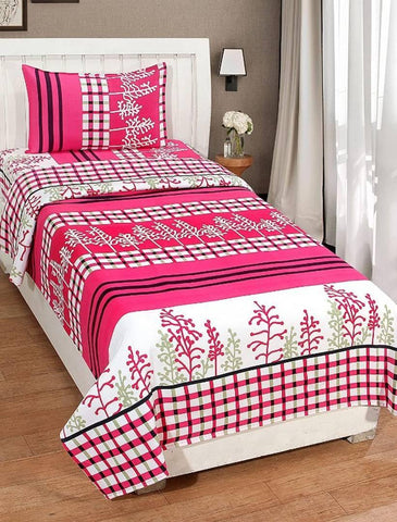 3d Single Bedsheet With 1 Pillow Covers - Trend Eve