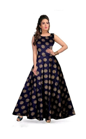 Women's Rayon Printed Gown - Trend Eve