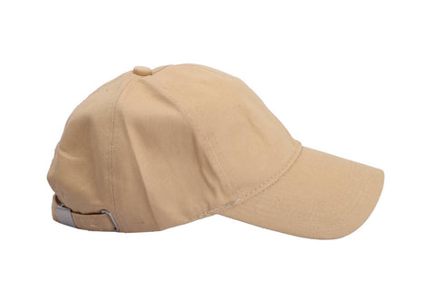 Stylish Cotton Beige Solid Baseball Cap For Unisex - Trend Eve